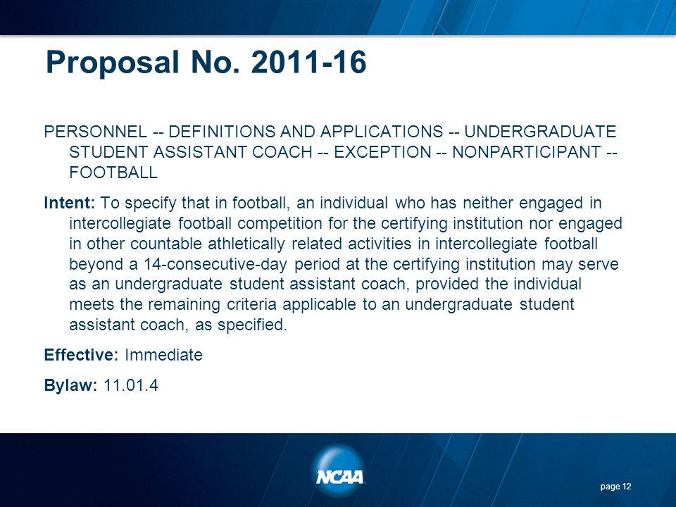 Proposal No. 2011-16