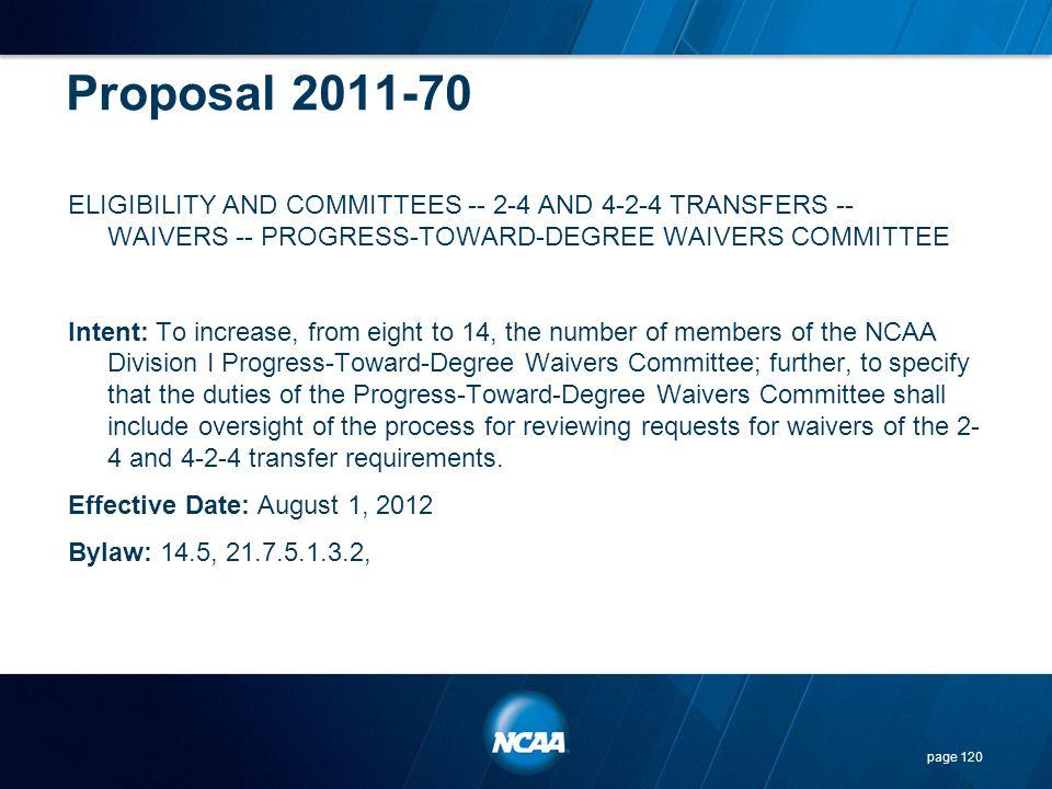 Proposal 2011-70