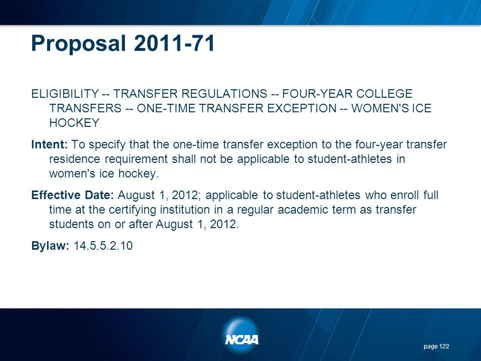 Proposal 2011-71