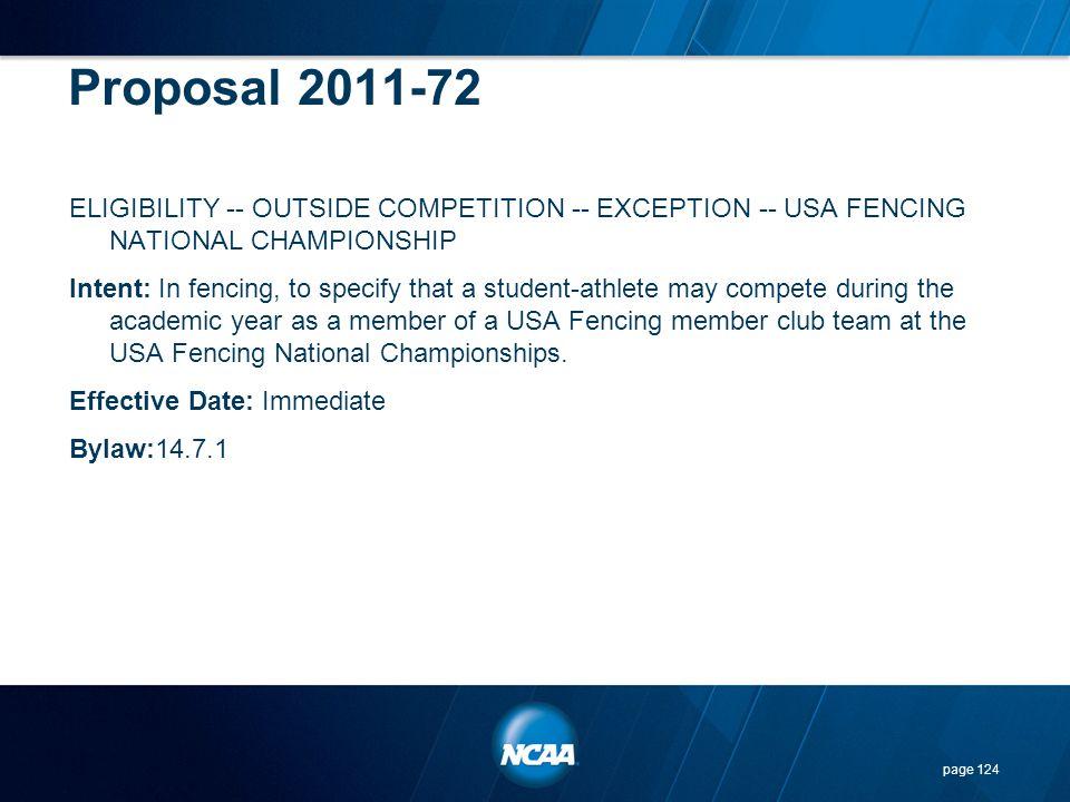 Proposal 2011-72