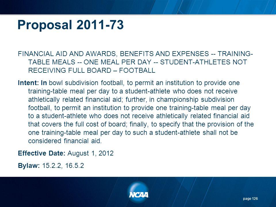 Proposal 2011-73