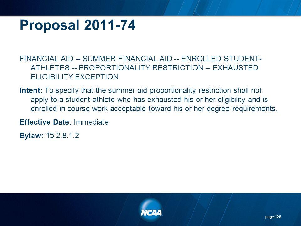 Proposal 2011-74