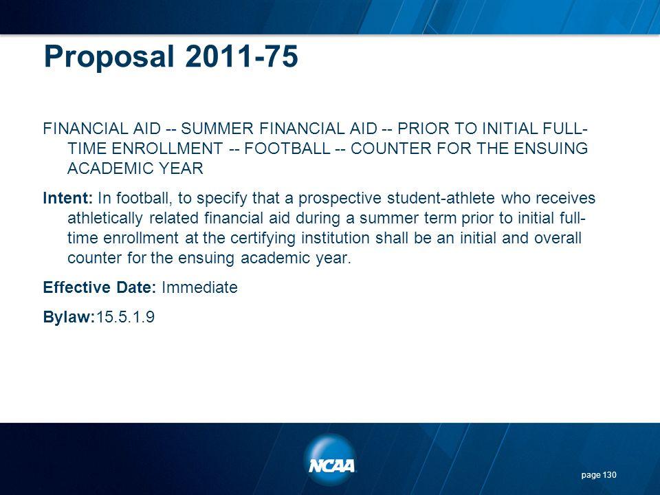 Proposal 2011-75