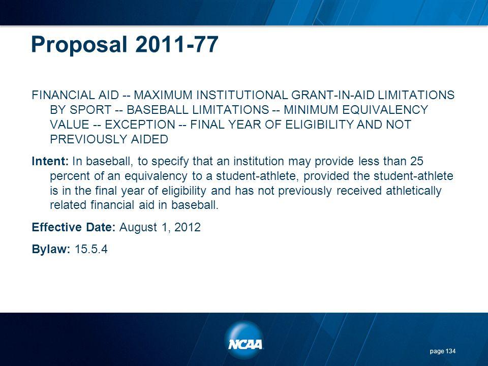 Proposal 2011-77
