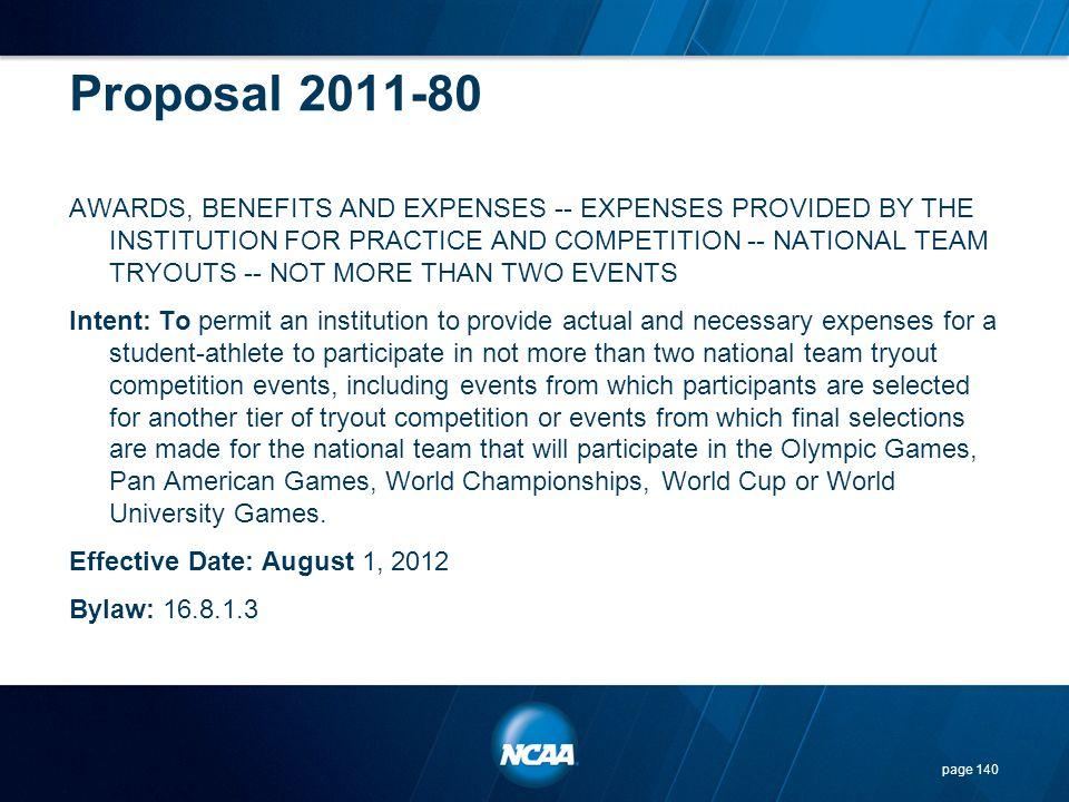 Proposal 2011-80