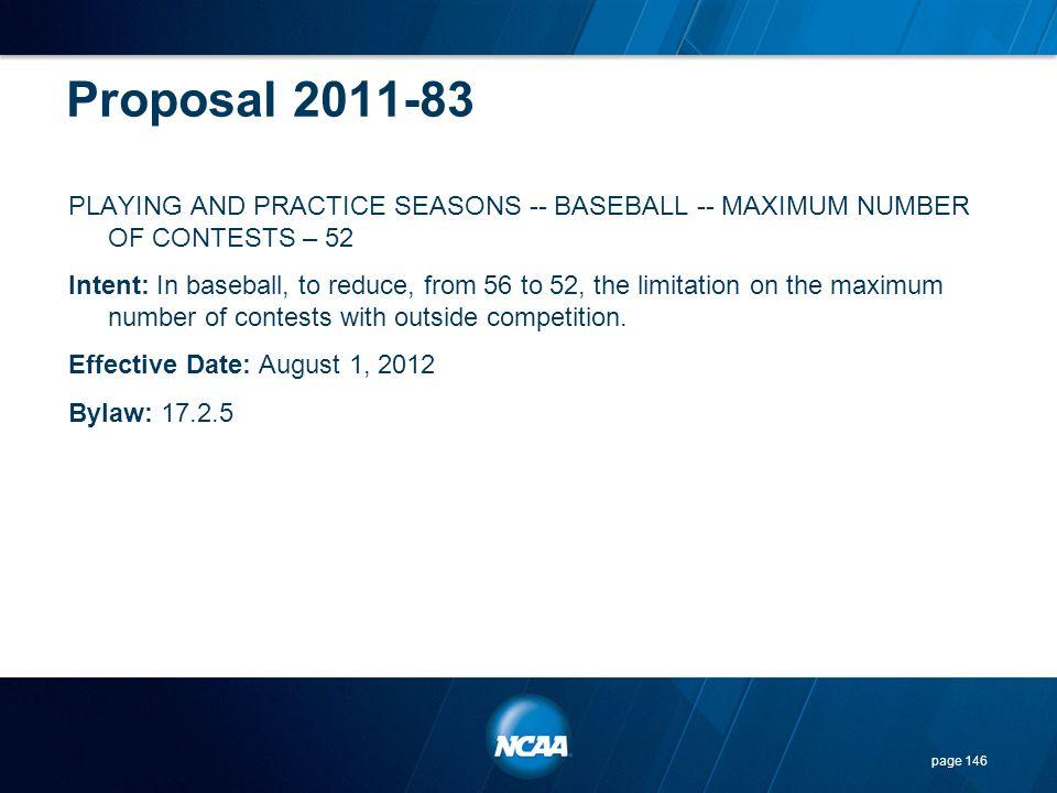 Proposal 2011-83