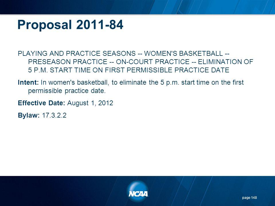 Proposal 2011-84