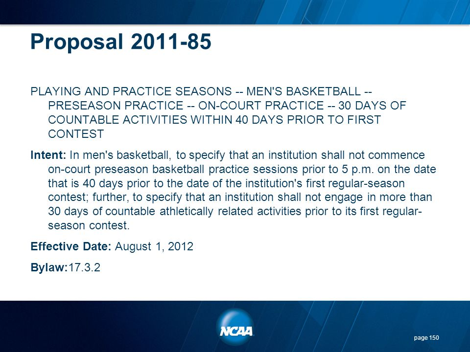 Proposal 2011-85
