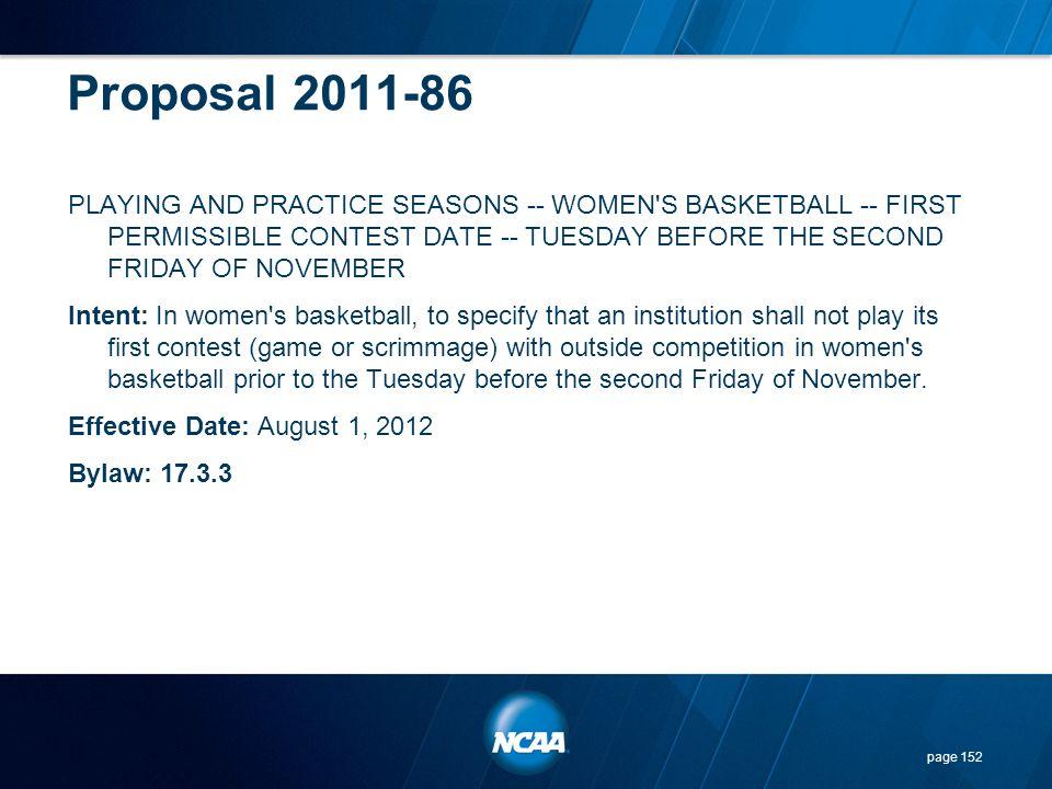 Proposal 2011-86