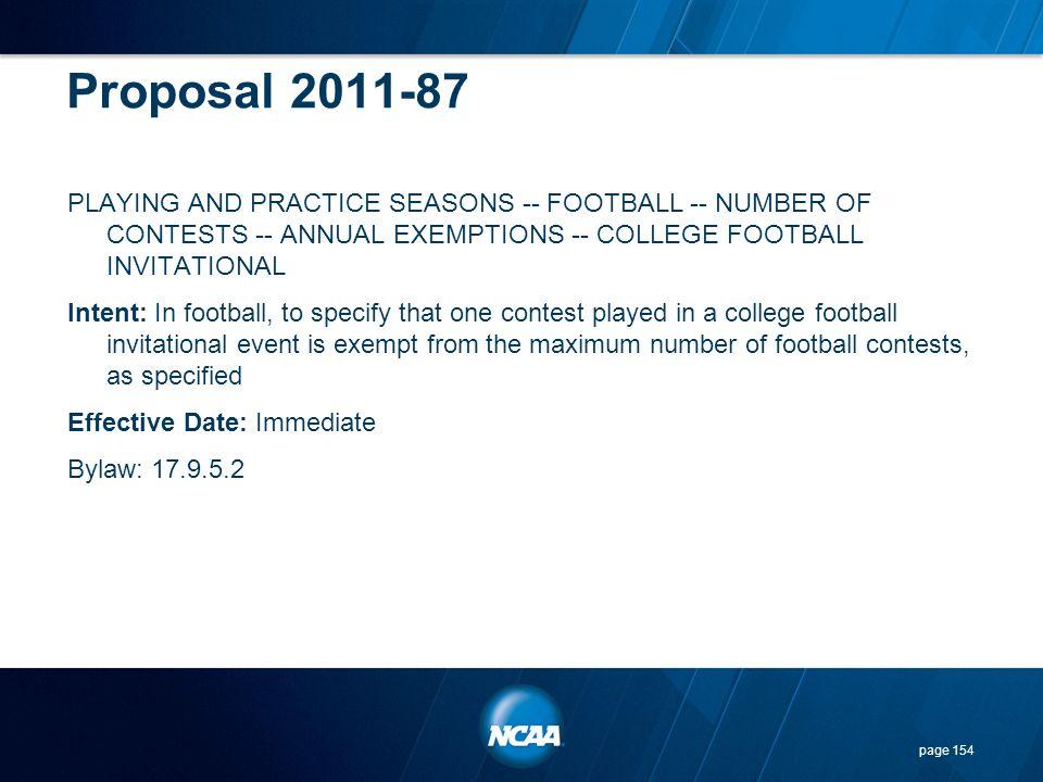 Proposal 2011-87