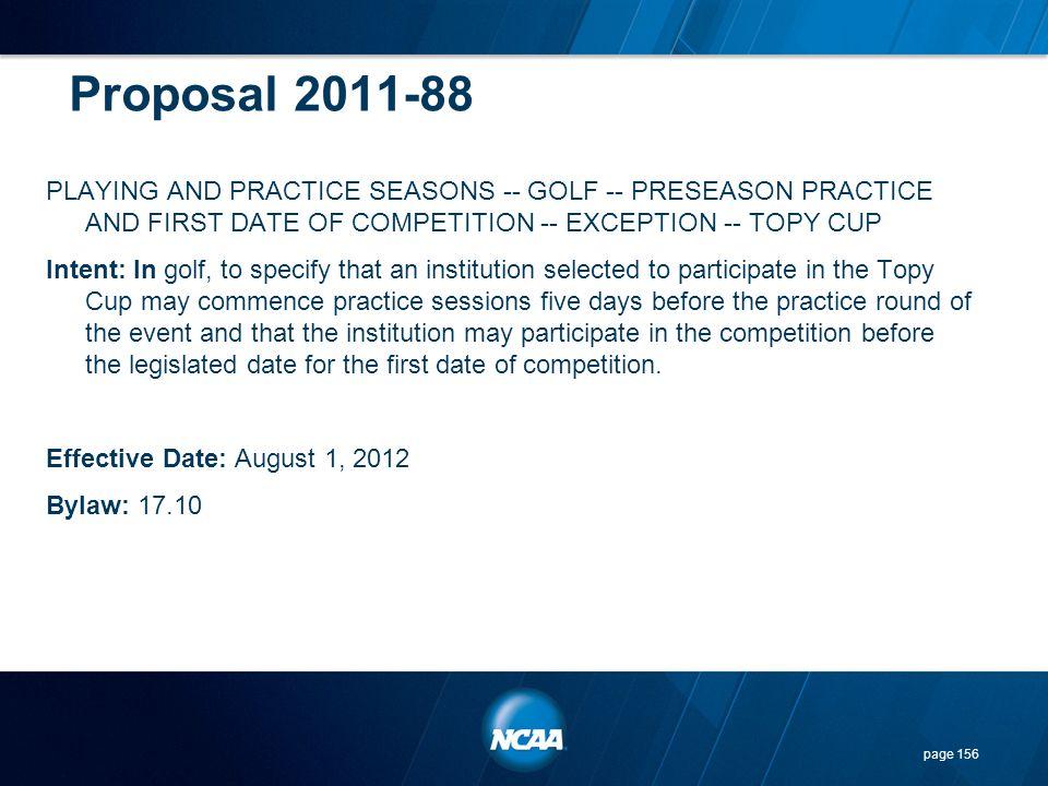 Proposal 2011-88