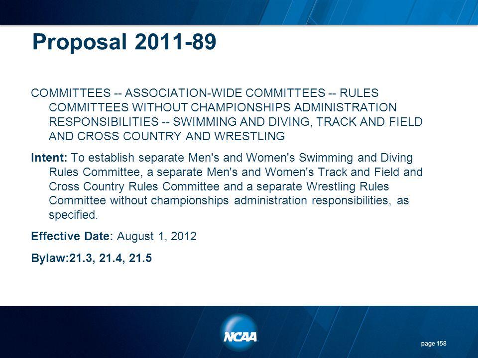 Proposal 2011-89