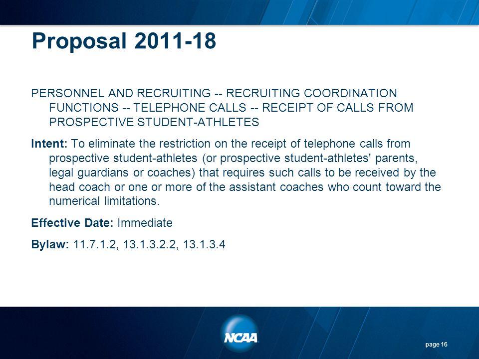 Proposal 2011-18