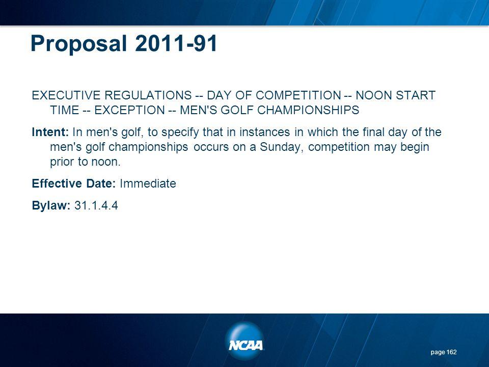Proposal 2011-91