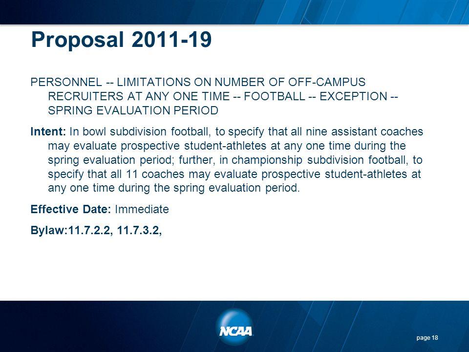 Proposal 2011-19