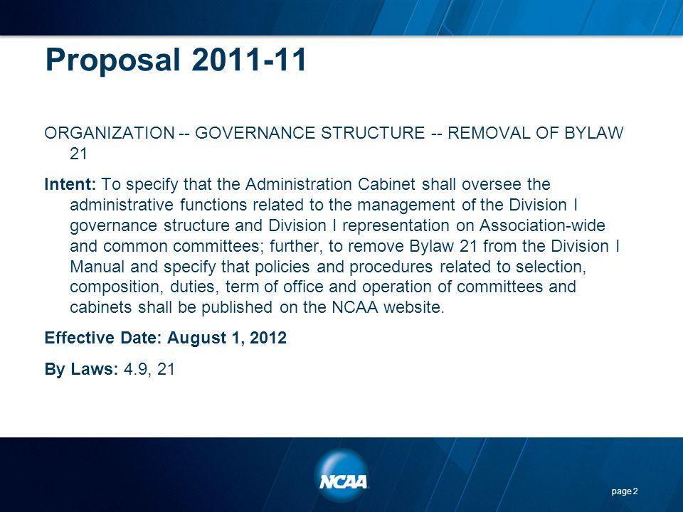 Proposal 2011-11