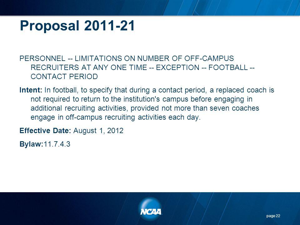 Proposal 2011-21