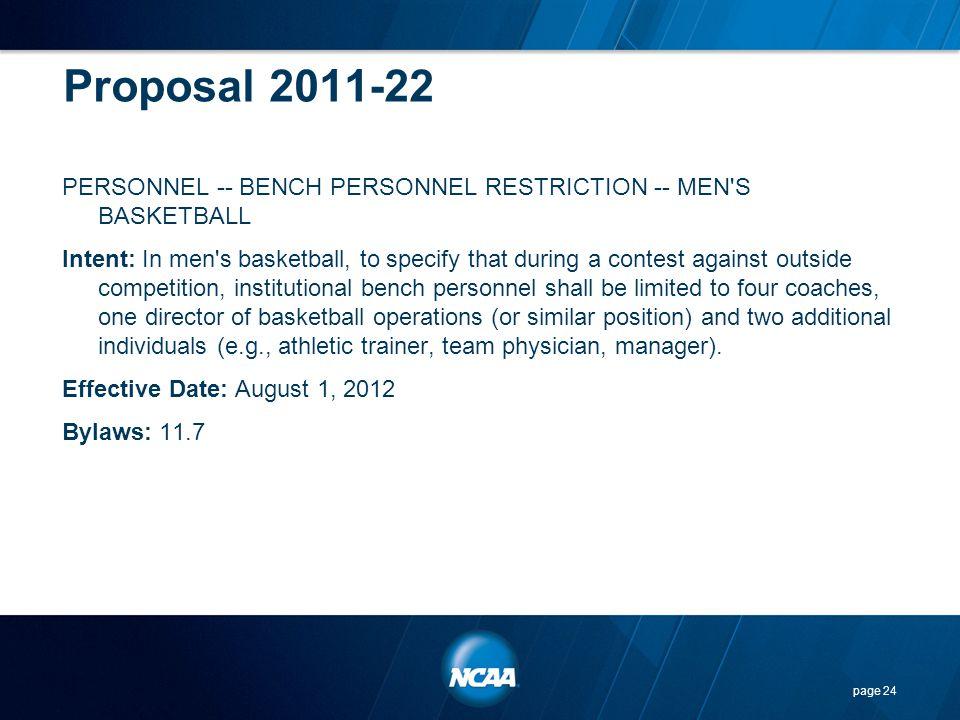 Proposal 2011-22