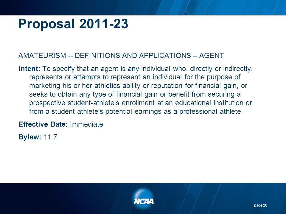 Proposal 2011-23