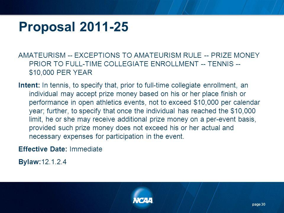 Proposal 2011-25