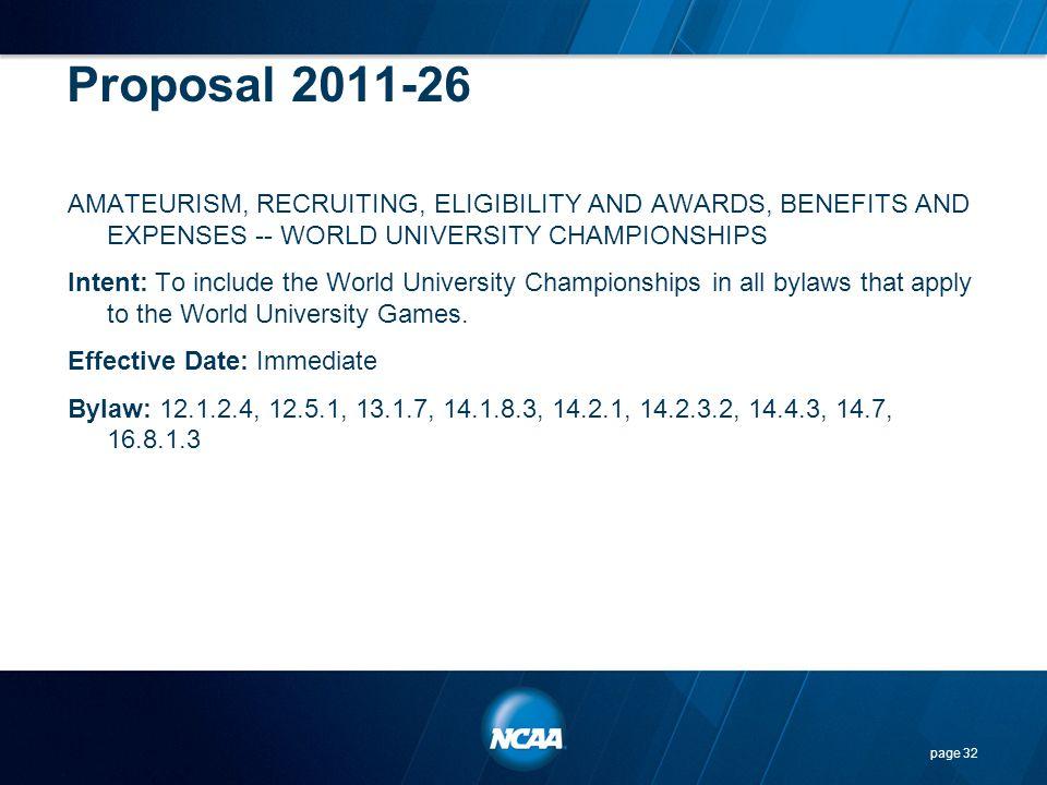 Proposal 2011-26
