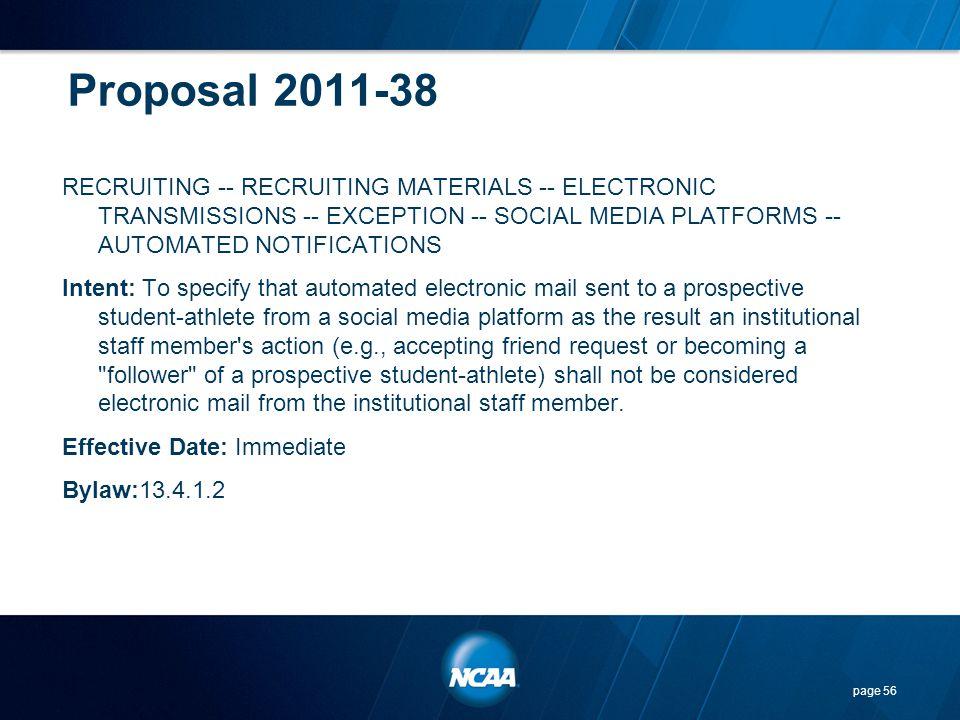 Proposal 2011-38