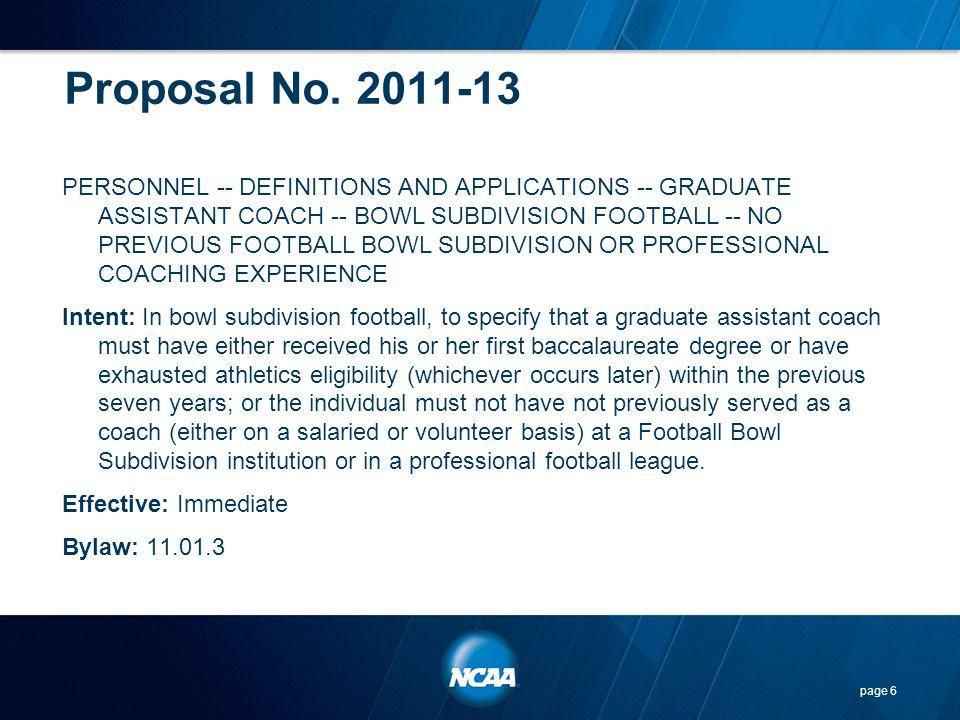 Proposal No. 2011-13