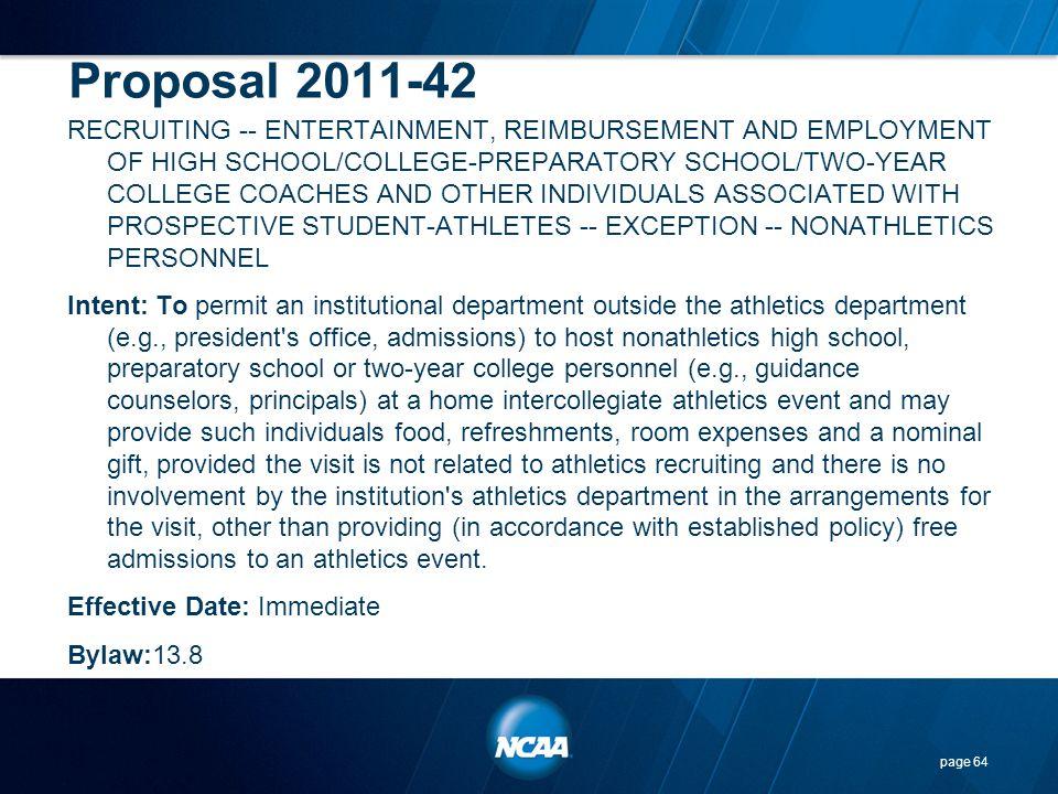 Proposal 2011-42