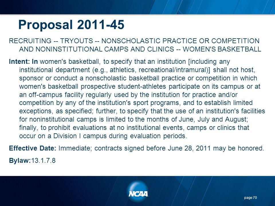 Proposal 2011-45