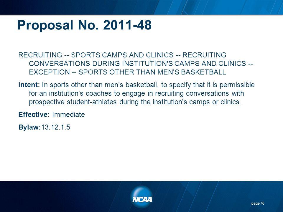 Proposal No. 2011-48