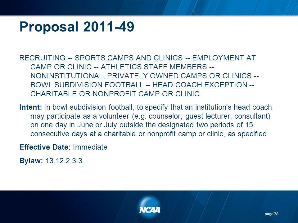 Proposal 2011-49