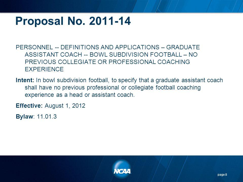 Proposal No. 2011-14