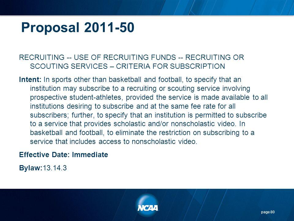 Proposal 2011-50