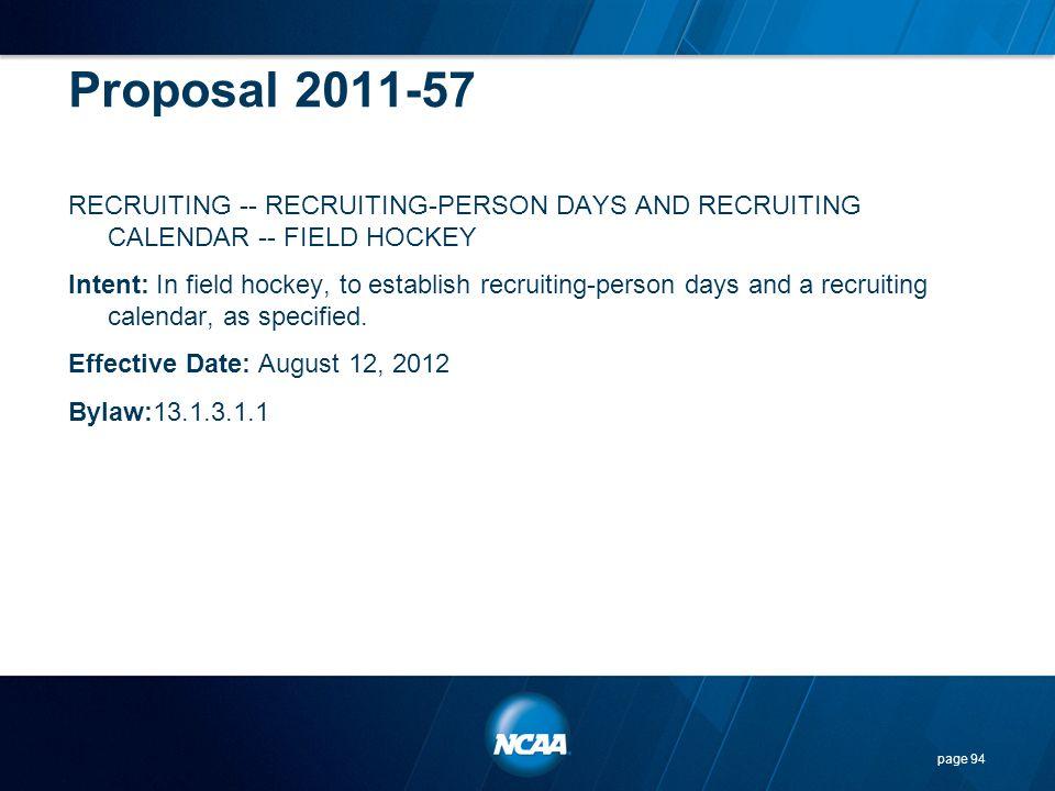 Proposal 2011-57