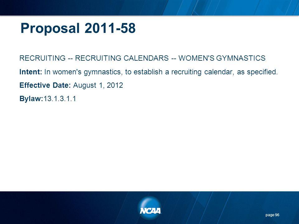 Proposal 2011-58