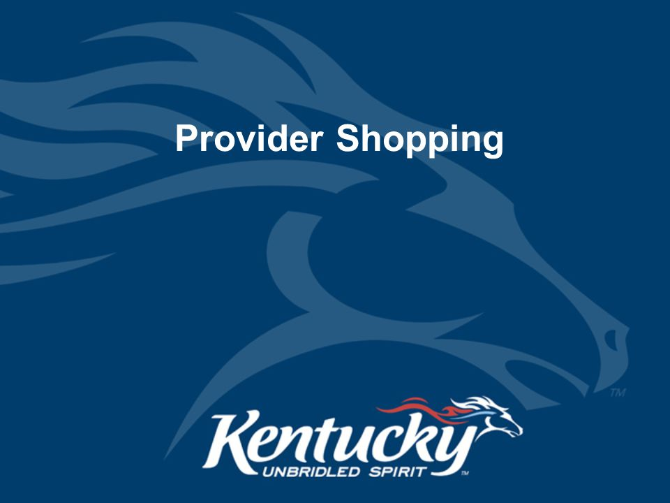 Provider Shopping