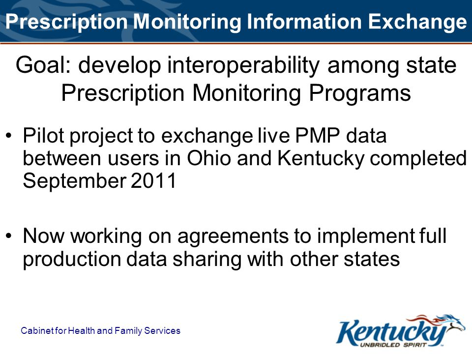 Prescription Monitoring Information Exchange