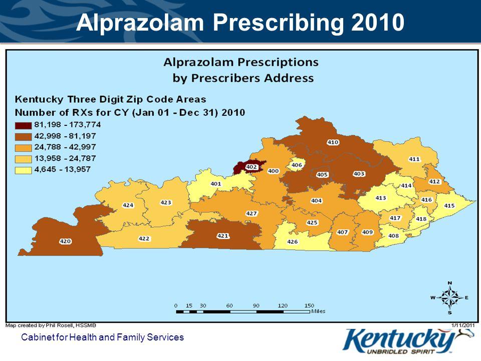 Alprazolam Prescribing 2010