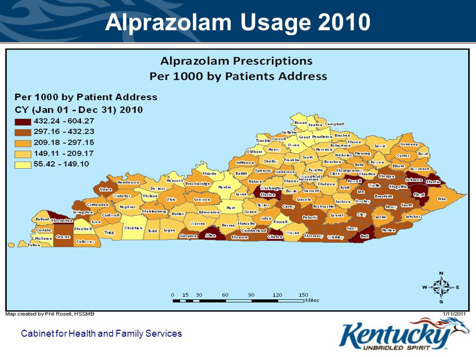 Alprazolam Usage 2010 Cabinet for Health and Family Services