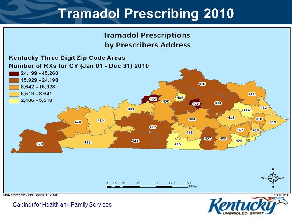 Tramadol Prescribing 2010 Cabinet for Health and Family Services