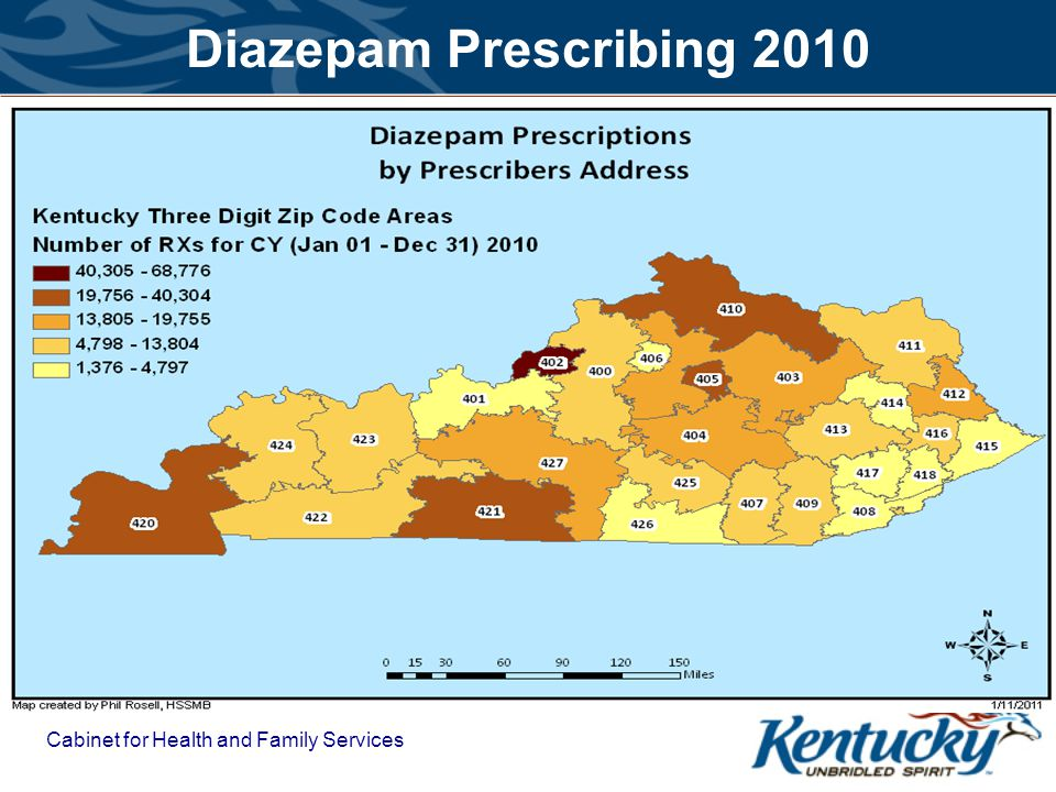 Diazepam Prescribing 2010 Cabinet for Health and Family Services