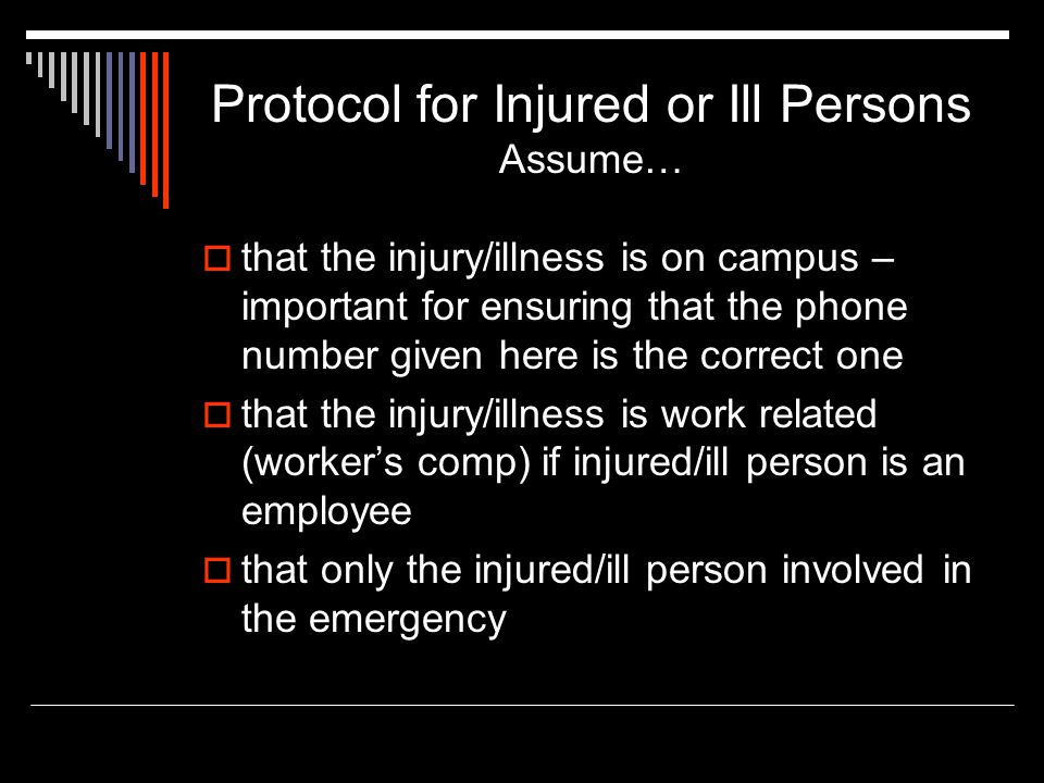 Protocol for Injured or Ill Persons Assume…