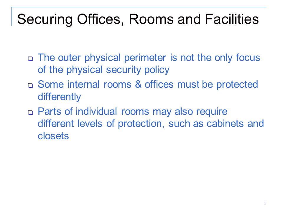 Securing Offices, Rooms and Facilities