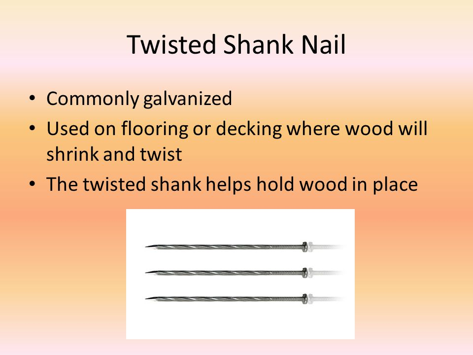 Twisted Shank Nail Commonly galvanized