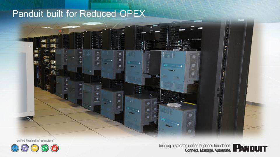 Panduit built for Reduced OPEX