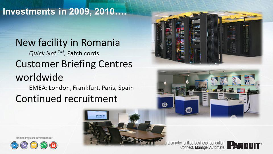 New facility in Romania Customer Briefing Centres worldwide