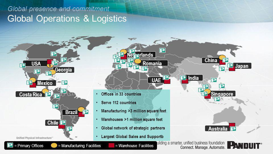 Global presence and commitment Global Operations & Logistics