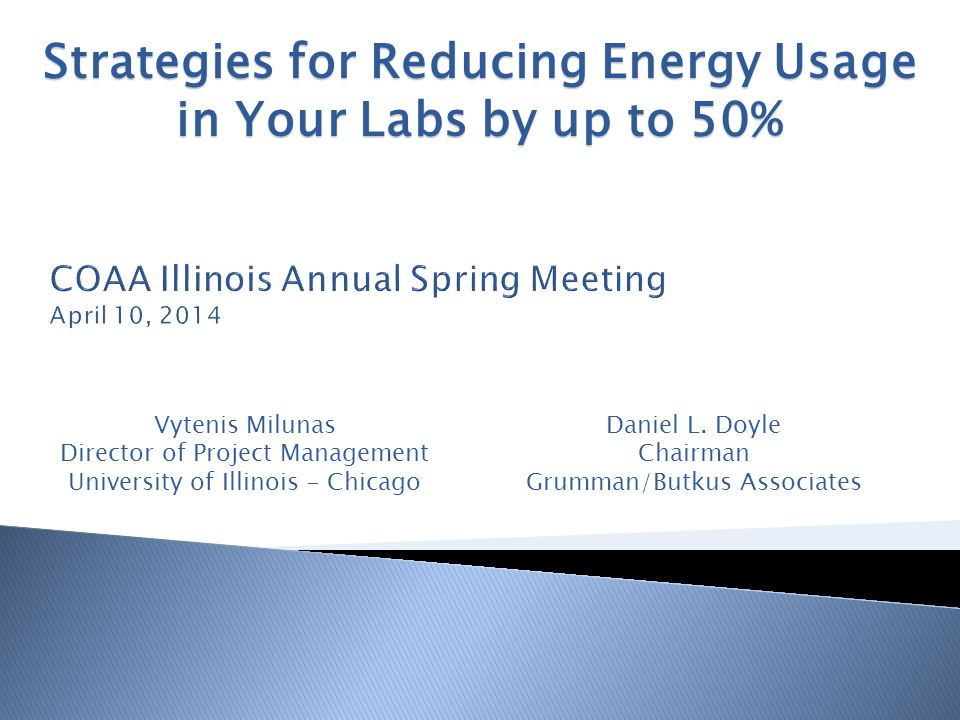 COAA Illinois Annual Spring Meeting April 10, 2014