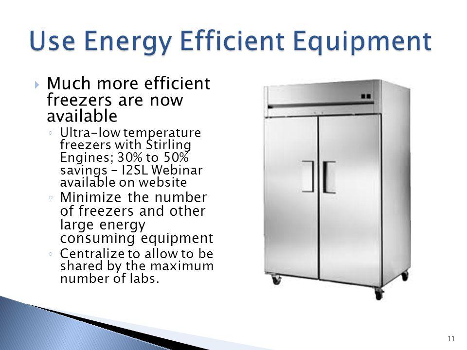 Use Energy Efficient Equipment