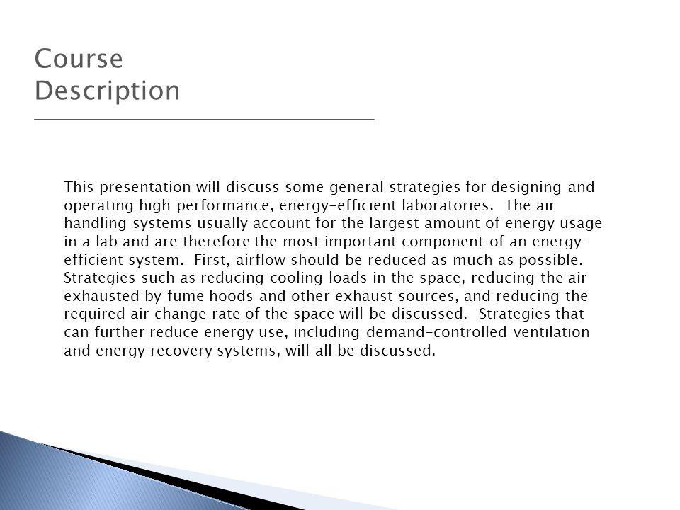 Course Description.